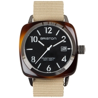 Briston Clubmaster Hms Watch Black Tortoise And Khaki