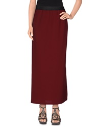 Hope Collection Long Skirts Maroon
