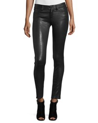 Alice Olivia Angie 5 Pocket Leather Leggings Black