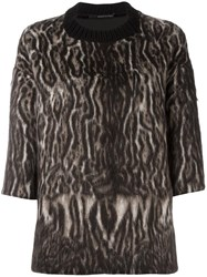 Maurizio Pecoraro Animal Print Jumper Black