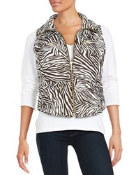 Michael Michael Kors Petite Packable Zip Front Vest Chocolate