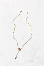 Urban Outfitters Cosmic Dust Drop Necklace Gold