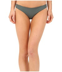 Mikoh Swimwear Zuma Full Coverage Bottom Army Women's Swimwear Green