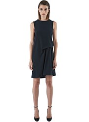 Acne Studios Caprice Mid Length Draped Dress Black