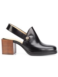 Christophe Lemaire Sling Back Pumps Black