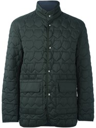 Z Zegna Pentagon Quilted Jacket Green