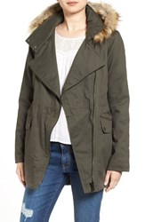 Sam Edelman Women's Cotton Parka With Removable Faux Fur Trim Hood