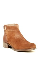 Manas Design Suede Buckle Bootie Brown