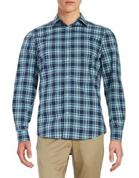 Black Brown Plaid Cotton Sportshirt Malachite