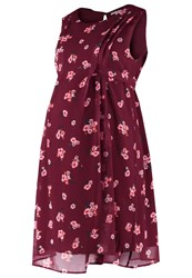 Mintandberry Mom Summer Dress Grunge Dark Red