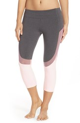 Alo Yoga Women's Alo 'Curvature' Mesh Inset Capri Leggings Stormy Heather Purple