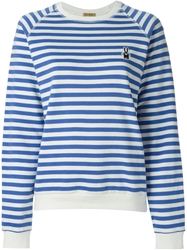 Peter Jensen Horizontal Stripe Sweatshirt White