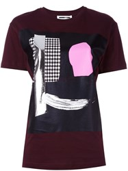 Mcq By Alexander Mcqueen Abstract Face Print T Shirt Red