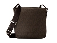 Michael Kors Jet Set Medium Flap Messenger Brown Messenger Bags