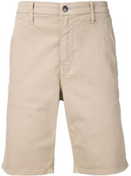 Joe's Jeans Knee Length Chino Shorts Nude And Neutrals