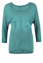Sublevel Long Sleeved Top Deep Teal Green