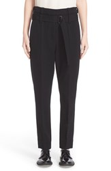 Ann Demeulemeester Women's Wool And Cotton Ankle Pants
