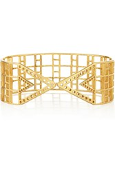 Arme De L'amour Gold Plated Arm Cuff Metallic
