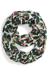 Sole Society Palm Print Infinity Scarf Multi