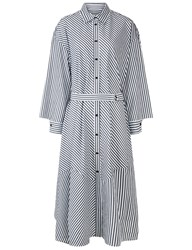 Rachel Comey Grey And White Striped Braden Shirt Dress