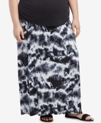 Motherhood Maternity Plus Size Tie Dye Maxi Skirt Tye Dye