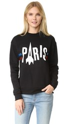 Etre Cecile Paris Rocket Boyfriend Sweatshirt Black