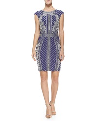 Jovani Cap Sleeve Beaded And Sequined Cocktail Dress