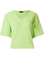 Gig V Neck Knit Blouse Green
