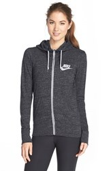 Women's Nike 'Gym Vintage' Zip Front Hoodie Black