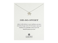 Dogeared Oh So Sweet Bow Reminder Necklace Sterling Silver Necklace