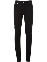 Mcq By Alexander Mcqueen Mcq Alexander Mcqueen Distressed Skinny Jeans Black