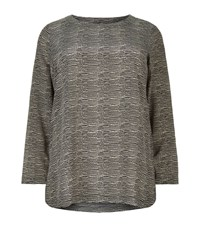 Marina Rinaldi Ripple Print Top Female Beige