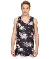 Marc Jacobs Mellow Meadow Oversize Silk Tank Top Navy Multi Men's Sleeveless Blue