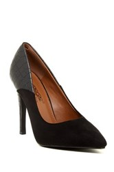 Elegant Footwear Chanel Contrast Pump Black