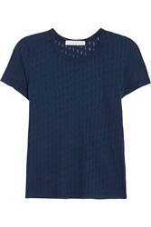 Kain Label Maila Distressed Cotton Jersey T Shirt Blue