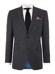 Chester Barrie Stripe Tailored Fit Suits Grey