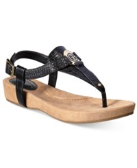 Giani Bernini Raisaa Footbed Sandals Only At Macy's Women's Shoes Black