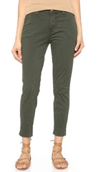J Brand Josie Tapered Leg Trousers Distressed Caledon
