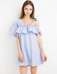Pixie Market Annette Striped Off The Shoulder Dress By New Revival