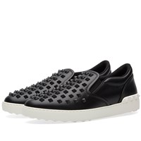 Valentino Rock Slip On Sneaker Black