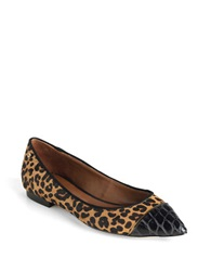 Rachel Roy Nola Calf Hair And Snake Embossed Flats Leopard