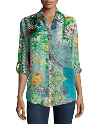 Johnny Was Brightwood Printed Blouse Petite