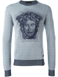 Versace Medusa Sweater Blue