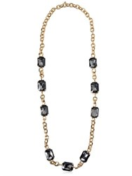 Dsquared Long Chain Necklace With Crystals