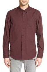 Men's Tavik 'Balance' Trim Fit Oxford Woven Shirt Merlot