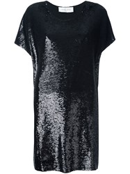 Iro Sequin Shift Dress Black