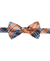Countess Mara Men's Duane Plaid Pre Tied Bow Tie Orange