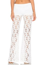 Nightcap Wallflower Lace Bell Pant White