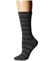 Richer Poorer Nora Charcoal Teal Women's Crew Cut Socks Shoes Gray