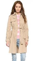 Marc By Marc Jacobs Classic Cotton Trench New Beige